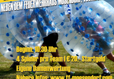 Bubble-Soccer-Turnier in Mösendorf am 18. August 2018