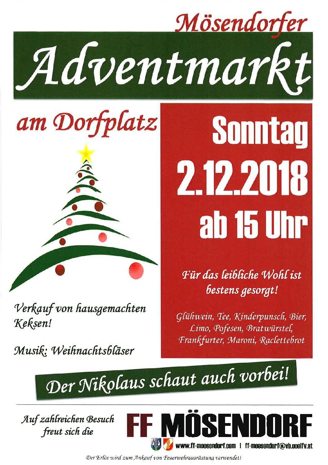 2.12.2018   Einladung zum Adventmarkt